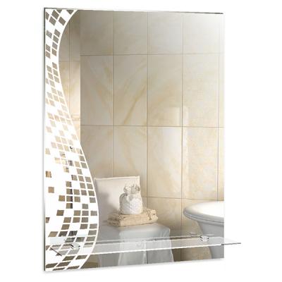 """Зеркало MIXLINE """"Пиксели"""" 535*750 (ШВ) с полкой/пескоструйный рисунок / Зеркала MIXLINE / Мебель для ванной комнаты / Каталог товаров / San House"""
